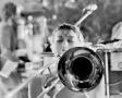 Woman Trombone Player at la nuit de la roquette