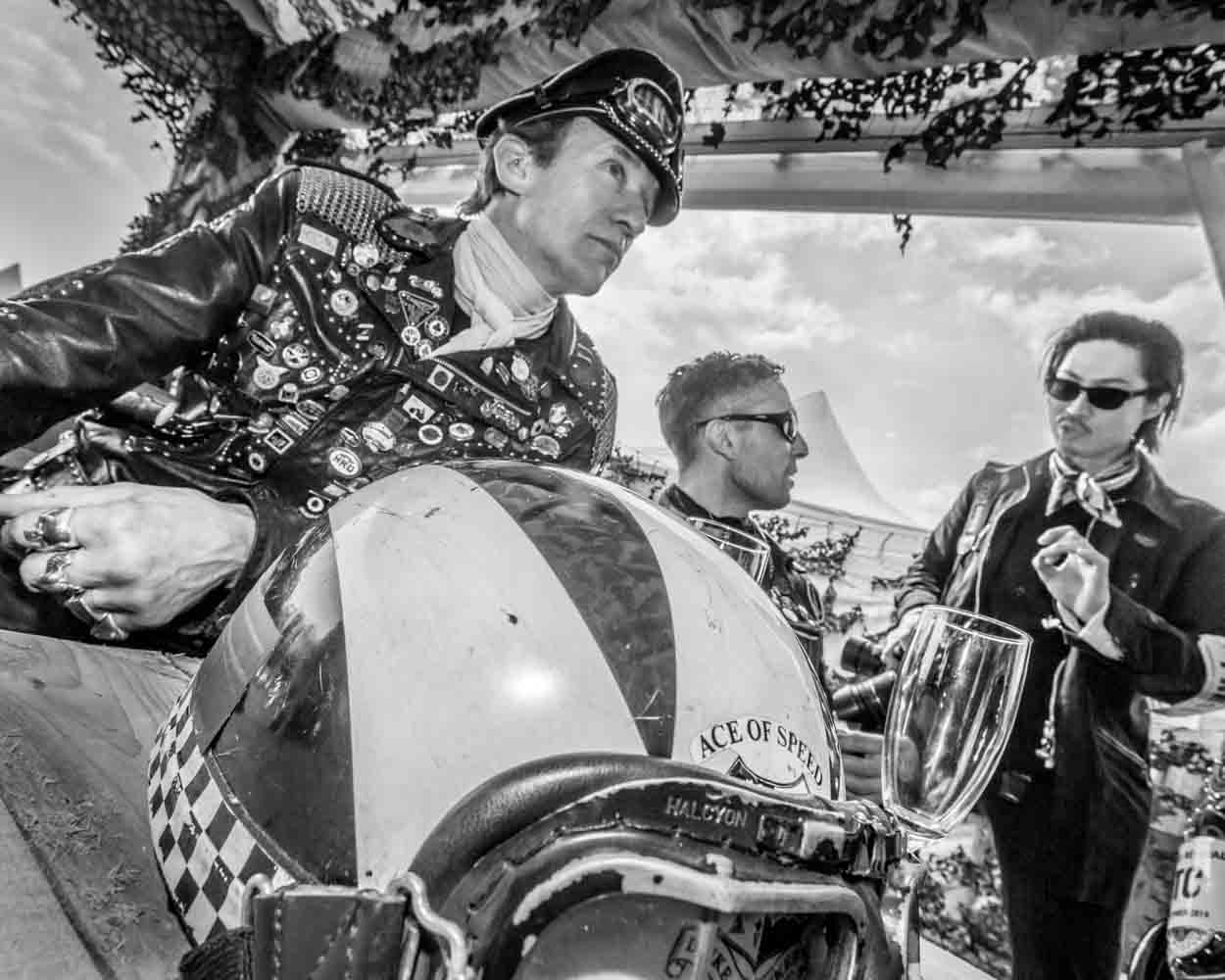 Bikers Goodwood Revival 2014