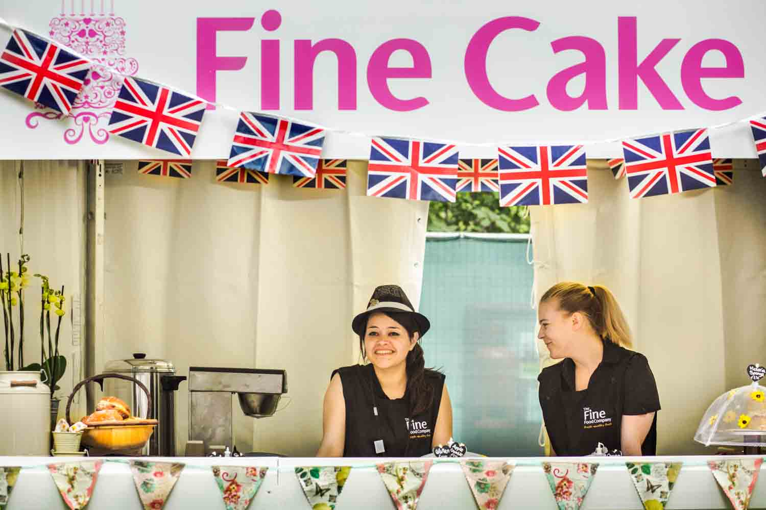 Girls at Fine Cake Stand RHS Chelsea Flower Show 2014