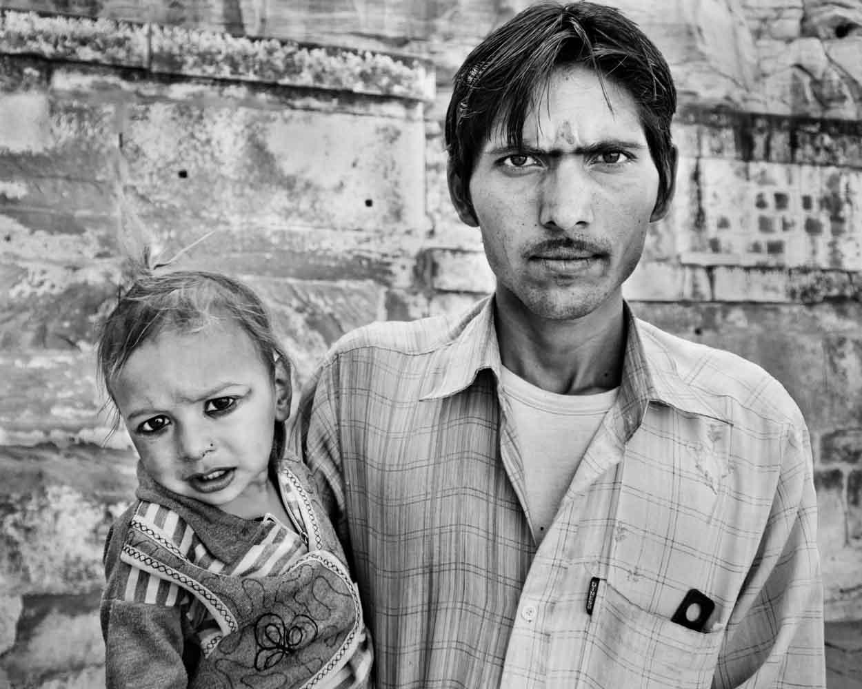 Man and his son Jaipur, Rajasthan