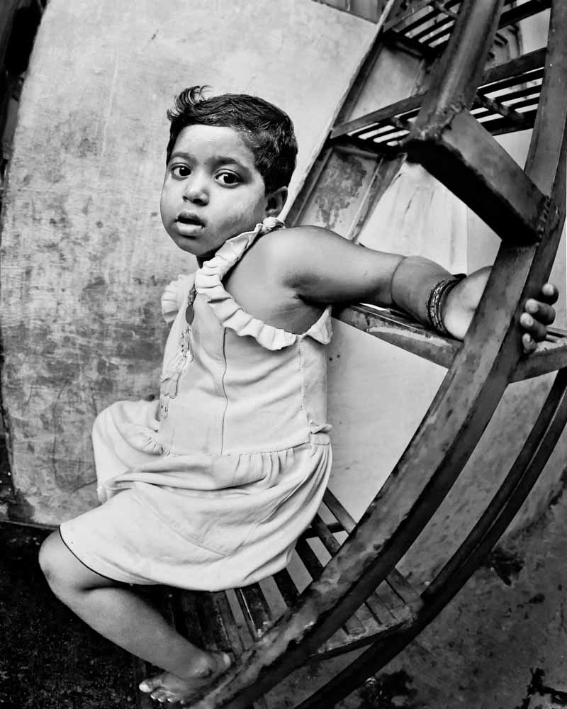 Girl in the Slums Mumbai