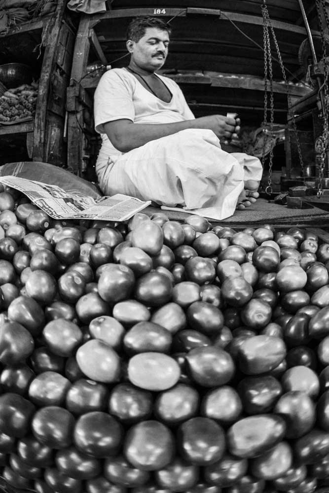 Vegetable trader Delhi India