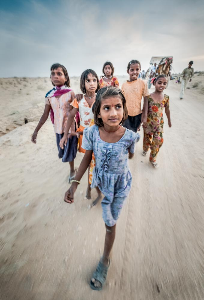 Children in the Thar desert India