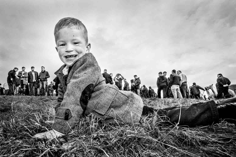 Irish  traveller boy Ballinasloe HorseFair