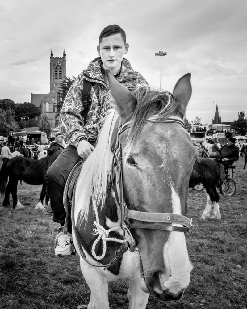 young traveller at ballinasloe horse fair