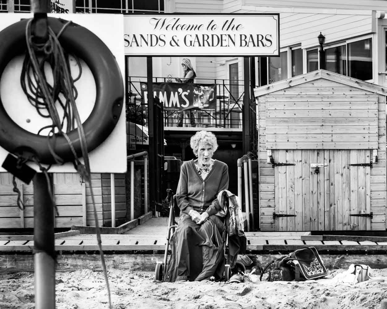 Lady at Broadstairs beach