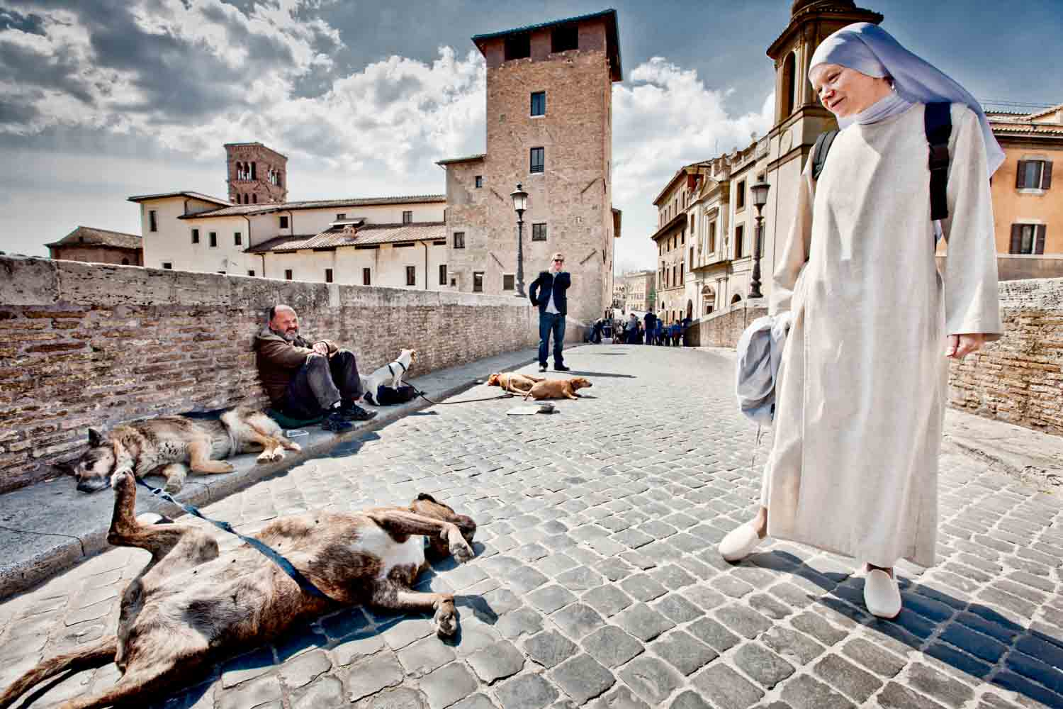 Nun and Dog Rome